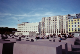 a view across the memorial to the murdered jews of europe